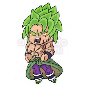 broly de dragon ball kawaii