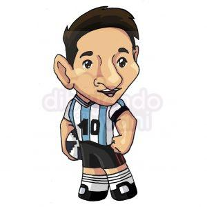 lionel messi kawaii