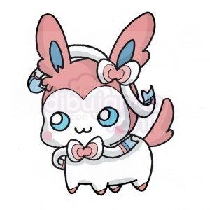 kawaii sylveon de pokemon