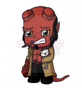 hellboy kawaii