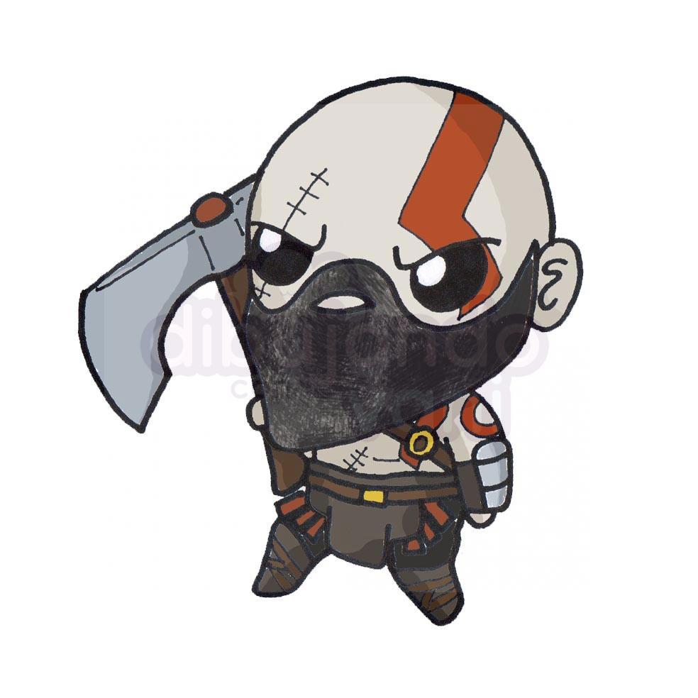 kratos kawaii - Dibujando con Vani